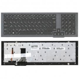 Клавиатура для ноутбука Asus G75V G75VW черная с рамкой и  подсветкой
