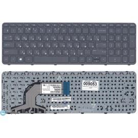 Клавиатура для ноутбука HP Pavilion 15-e черная с рамкой