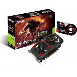 ВИДЕОКАРТА ASUS NVIDIA GEFORCE GTX 1050 OC EDITION, 2GB GDDR5/128-BIT, PCI-EX16 3.0, 1XDVI-D, 1XHDMI 2.0, 1XDP 1.4,  ATX, 2-SLOT COOLER, RETAIL