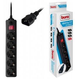 Сетевой фильтр Buro 500SH-1.8-UPS-B 1.8м (5 розеток) черный (коробка)