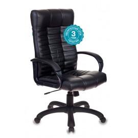 Кресло руководителя Бюрократ KB-10, BLACK черный искусственная кожа