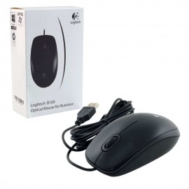 Мышь Logitech B100 Optical Mouse, 800dpi, черный, USB (910-003357)
