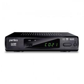 Perfeo DVB-T2 приставка для цифрового TV, DolbyDigital, HDMI, внешний блок питания (PF-168-3-OUT)