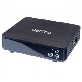 Perfeo DVB-T2 приставка для цифрового TV, HDMI,внеш б/п, пульт ДУ,кабель HDMI в комплекте (PF-120-1)