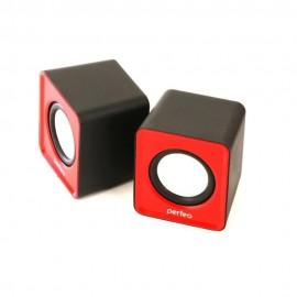 """Perfeo колонки 2.0 """"WAVE"""", мощность 2х3Вт (RMS), красный, USB (PF-128-R)"""