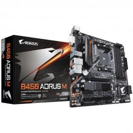 Материнская плата Gigabyte B450 AORUS M Soc-AM4 AMD B450 4xDDR4 mATX AC`97